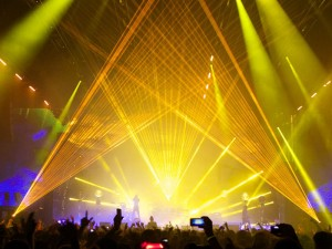 O2 NYE Prodigy Laser Effects