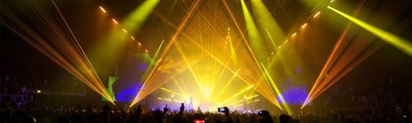 O2 NYE Prodigy Laser Effects