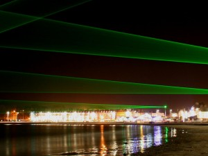 Weymouth Laser Light Art Installation