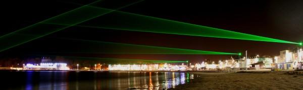 Weymouth Laser Light Art Installation