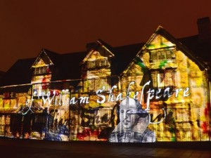 Shakespeare Birthplace Light Show Projection