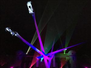 Goodwood Festival of Speed laser 2